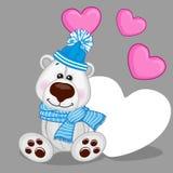 Polar Bear with hearts Royalty Free Stock Photography