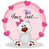 Polar Bear with hearts royalty free illustration