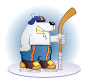 Polar Bear Hockey Player Stock Photography