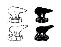 Polar bear on an ice floe. On the image is presented polar bear on an ice floe vector illustration