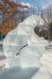 Polar bear ice sculpture  at Ottawa`s Winterlude Stock Photography
