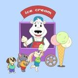 Polar bear - iceman stock illustration