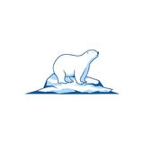 Polar Bear icon vector logo element Royalty Free Stock Photo
