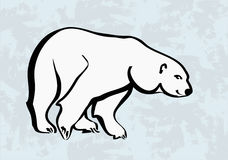 Polar bear  icons tattoo Royalty Free Stock Image