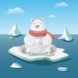 Polar bear illustration Royalty Free Stock Photo