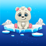 Polar bear. Illustration of polar bear on the iceberg royalty free illustration