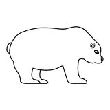 Polar bear isolated icon Stock Photos