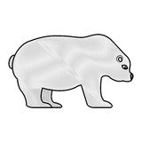 Polar bear isolated icon Royalty Free Stock Photo