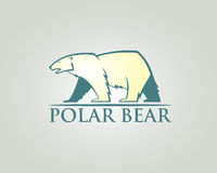 Polar bear label Royalty Free Stock Photo
