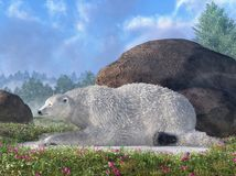 Polar Bear and Last Snow royalty free illustration