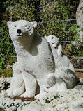 Polar Bear Lego Statue Royalty Free Stock Photography
