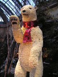 Polar Bear made of flowers Bellagio Las Vegas Atrium. Giant life size Polar Bear made of flowers in the Atrium at Bellagio Casino Las Vegas Stock Photo