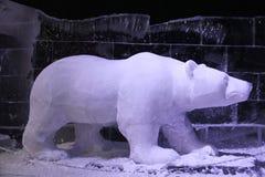 Polar bear made of ice and snow royalty free stock photo