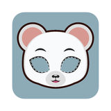 Polar bear mask for various festivities, parties Royalty Free Stock Photos