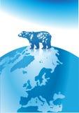 Polar bear north pole. Arctic, bar blue Royalty Free Stock Images