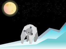 Polar bear and in north pole Royalty Free Stock Photos