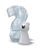 Polar bear question Royalty Free Stock Photo