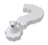Polar bear question Royalty Free Stock Image