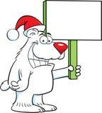 Polar Bear Santa stock illustration