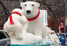 Polar Bear at Santa Clause Parade at Toronto Stock Image