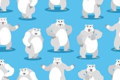 Polar Bear seamless pattern. Set a wild animal. Wild beast with Stock Image