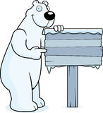 Polar Bear Sign Stock Photography