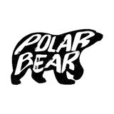 Polar bear silhouette. Vector illustration Stock Photos