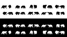 Polar bear silhouettes Stock Photos