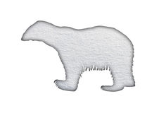Polar bear in snow Royalty Free Stock Image
