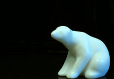 Polar bear soapstone carving Stock Photo