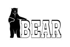 Polar bear symbol of the Arctic Stock Images