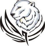 Polar bear tattoo Stock Photography