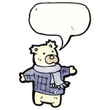 polar bear teddy cartoon Royalty Free Stock Photography