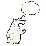 Polar bear with thought bubble cartoon Stock Photo