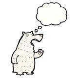 Polar bear with thought bubble cartoon Stock Photo