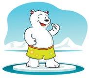 Polar Bear with thumb up stock illustration