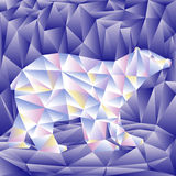 Polar bear of triangle shape. Colorful geometrical animal. Vector illustration Stock Photo