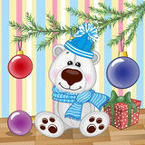 Polar Bear under the tree Royalty Free Stock Photos