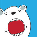 Polar Bear. Vector illustration of a polar bear Stock Photography