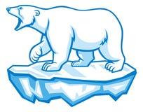 Polar bear. Vector of polar bear stand over the ice block