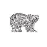Polar Bear zentangle Royalty Free Stock Photos