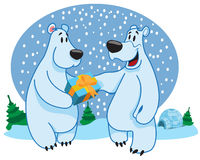 Polar bears, new year Royalty Free Stock Images