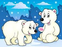 Polar bears theme image 1. Eps10 vector illustration Stock Image