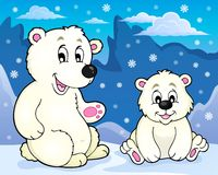 Polar bears theme image 2. Eps10 vector illustration Royalty Free Stock Images
