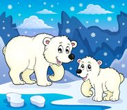 Polar bears theme image 4. Eps10 vector illustration Stock Images