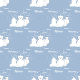 Polar bears, winter holidays Stock Image