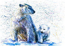 polar björnlook stock illustrationer