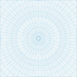 Polar coordinate circular grid graph paper background. Blue polar coordinate circular grid graph paper, graduated every 1 degree. Can be used for creating Royalty Free Stock Photography