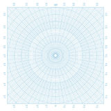 Polar coordinate circular grid graph paper background. Blue vector polar coordinate circular grid graph paper background, graduated every 1 degree Royalty Free Stock Photography