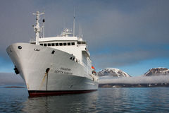 Polar Cruise Ship Icebreaker Stock Image